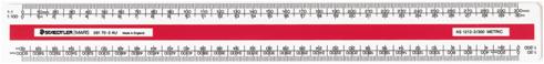 Staedtler oval scale ruler 300mm