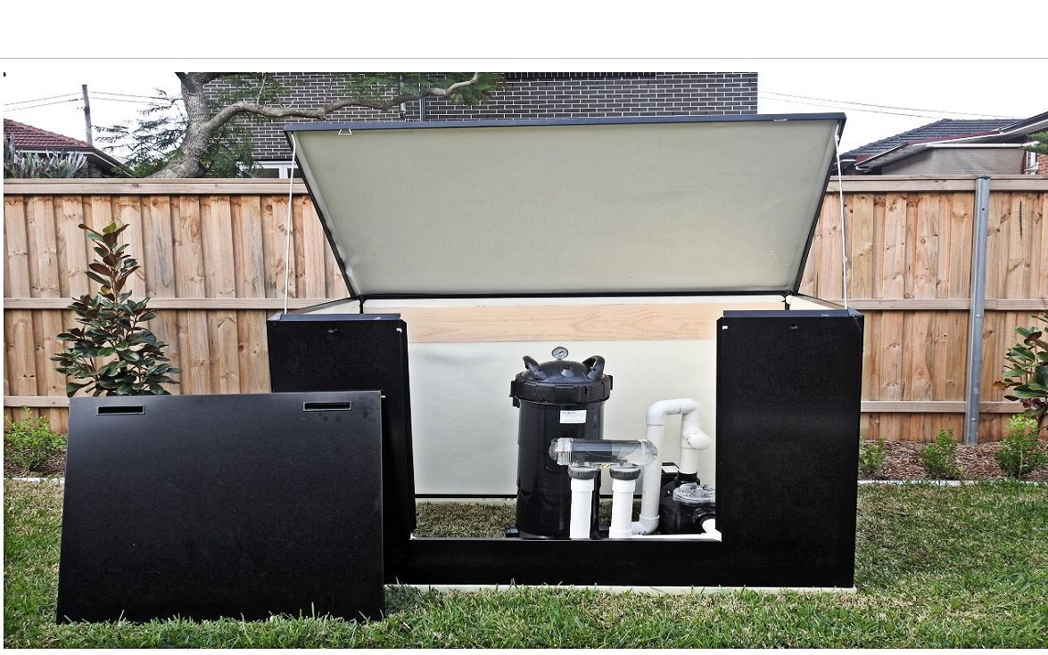 Acoustic Box Pool Equipment enclosure