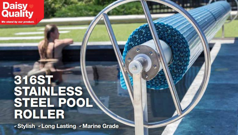 Daisy Stainless Steel Pool Cover Roller