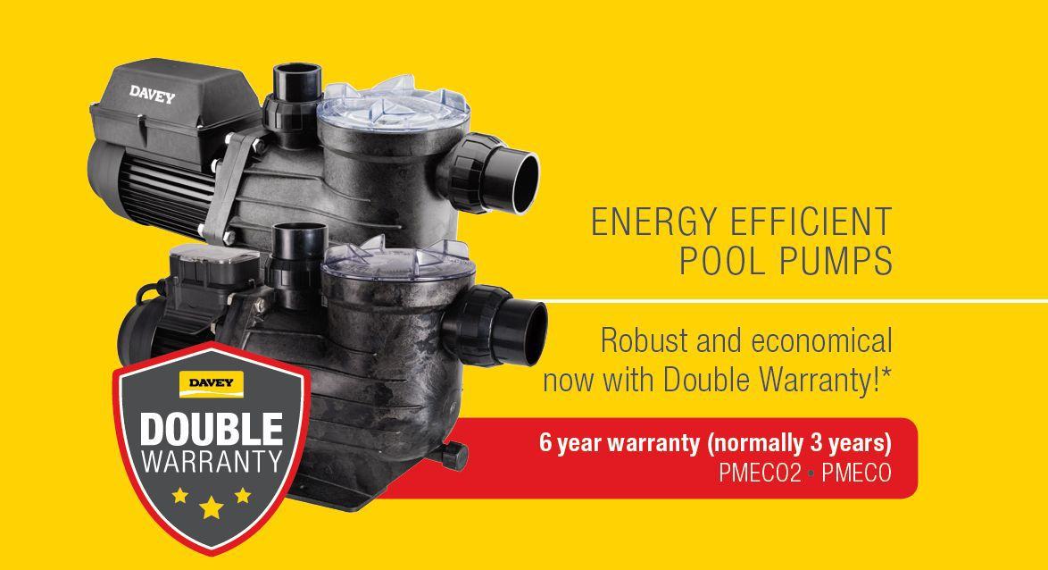 Davey Eco pump double warranty