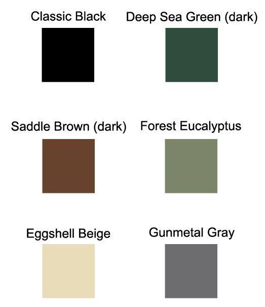 Filter enclosure colour choices