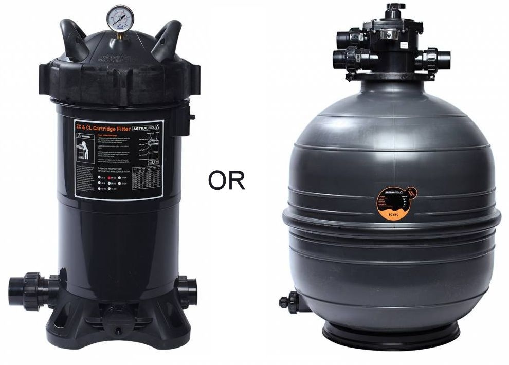 Sand or cartridge filter