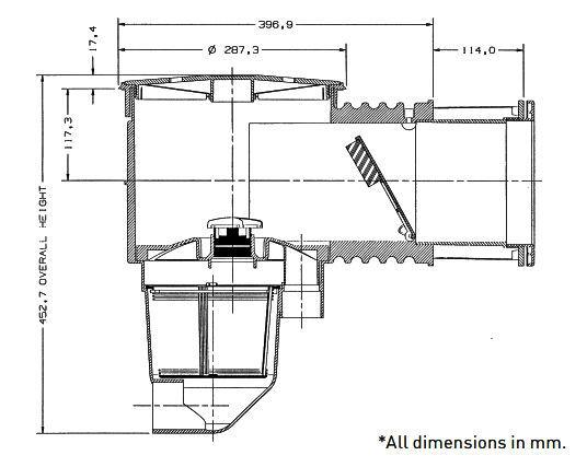 Quiptron Skimmer box dimensions