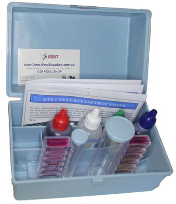 4 in 1 test kit for swimming pools direct pool supplies - Swimming pool water testing calculator ...
