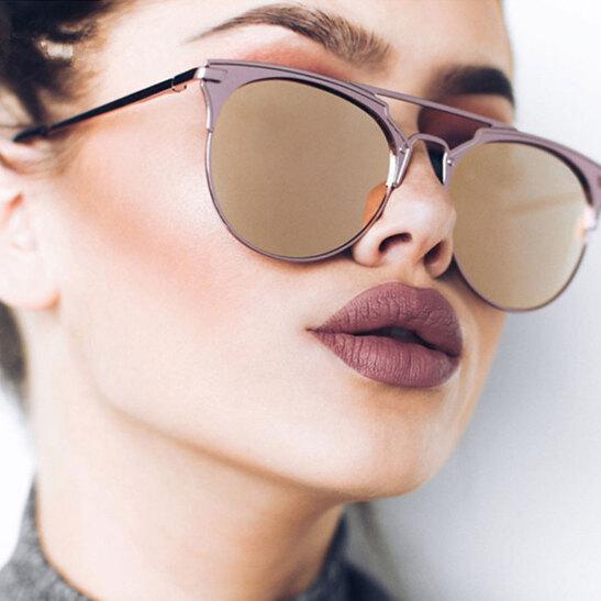 970a13eb531 Luxury Vintage Round Sunglasses Women Brand Designer 2018 Cat Eye Sunglasses  Sun Glasses For Women Female Ladies Sunglass Mirror