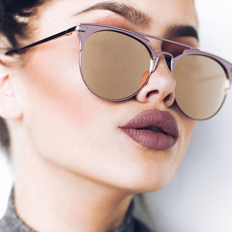 01c3703adb8 Luxury Vintage Round Sunglasses Women Brand Designer 2018 Cat Eye Sunglasses  Sun Glasses For Women Female Ladies Sunglass Mirror
