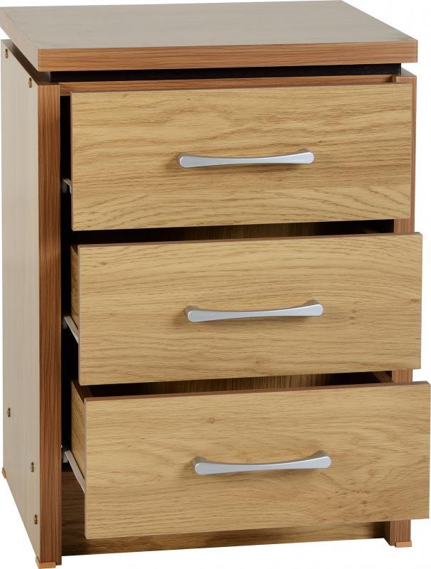 Bedroom Furniture Seconique Cambourne 2 Drawer Bedside Chest Limed Oak