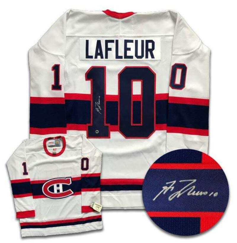new products 40150 a49e8 Details about Guy Lafleur Montreal Canadiens Autographed CCM Jersey