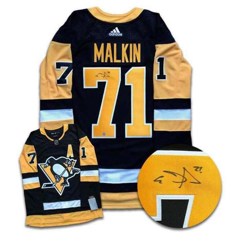 the latest b6528 a2dee Details about Evgeni Malkin Pittsburgh Penguins Autographed Adidas Jersey