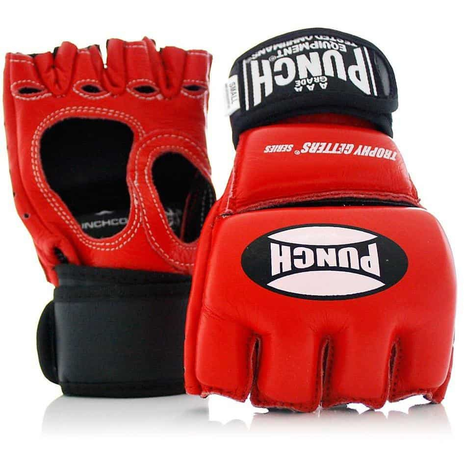 Last Punch MMA Fighting Gloves with Wrist Wrap Red S M L XL Size