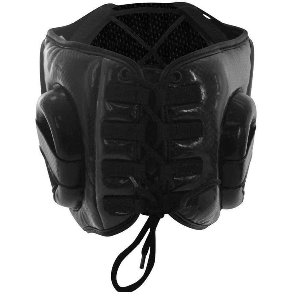 Chin Gear Guard Black /& Yellow Adidas Hybrid Lace Up Boxing Head