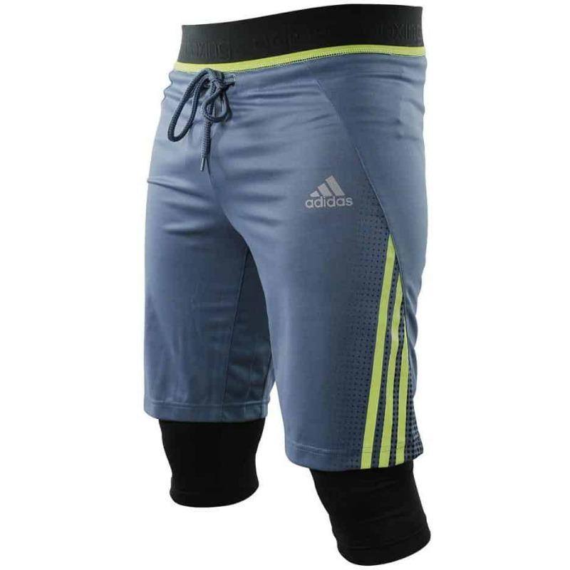 En riesgo cuero Habitat  Adidas Mens Tech Short w/ Leggings Climacool Material Elastic Waist  ADISTS01   eBay