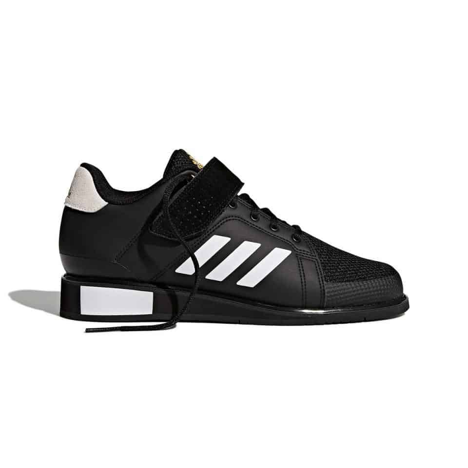 Details about Adidas POWERPERFECT 3 III Weight Lifting Shoe BlackWhiteGold Flexible Stable