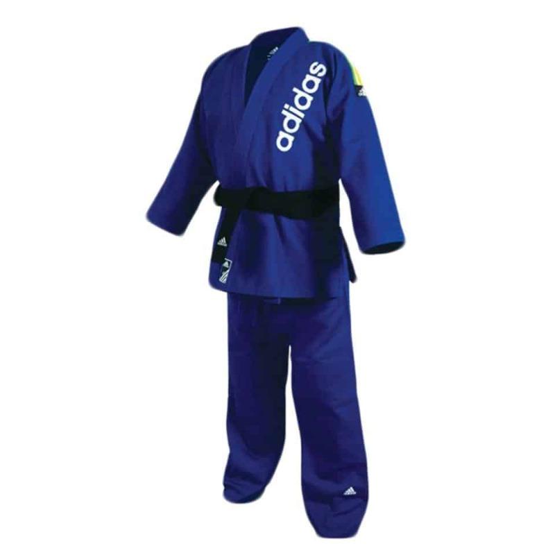 adidas judo gi Champion II JIJF, blue golden stripes