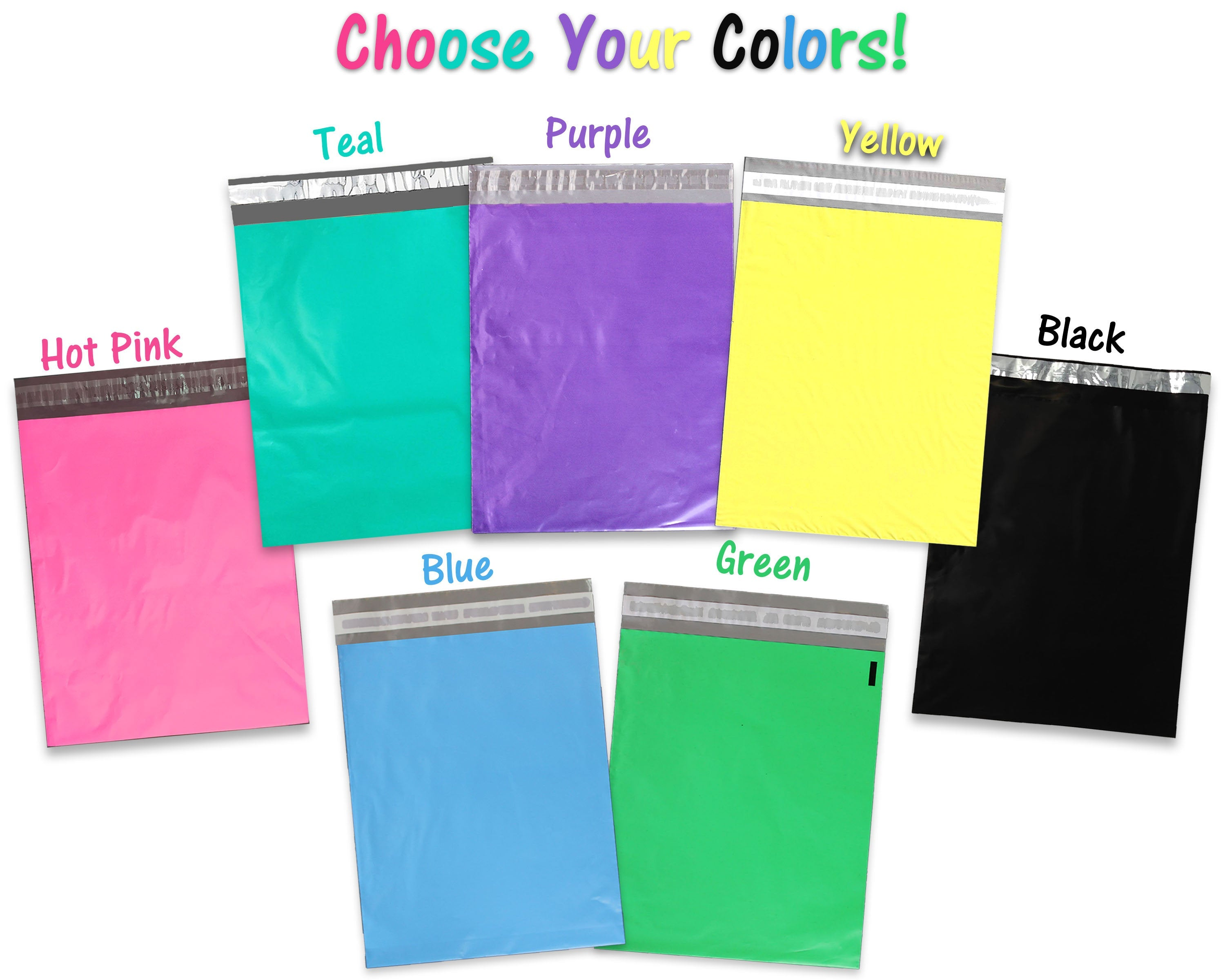 100 BLACK COLOR POLY MAILER BAGS 10 x 13 BOUTIQUE SHIPPING MAILING BEST QUALITY