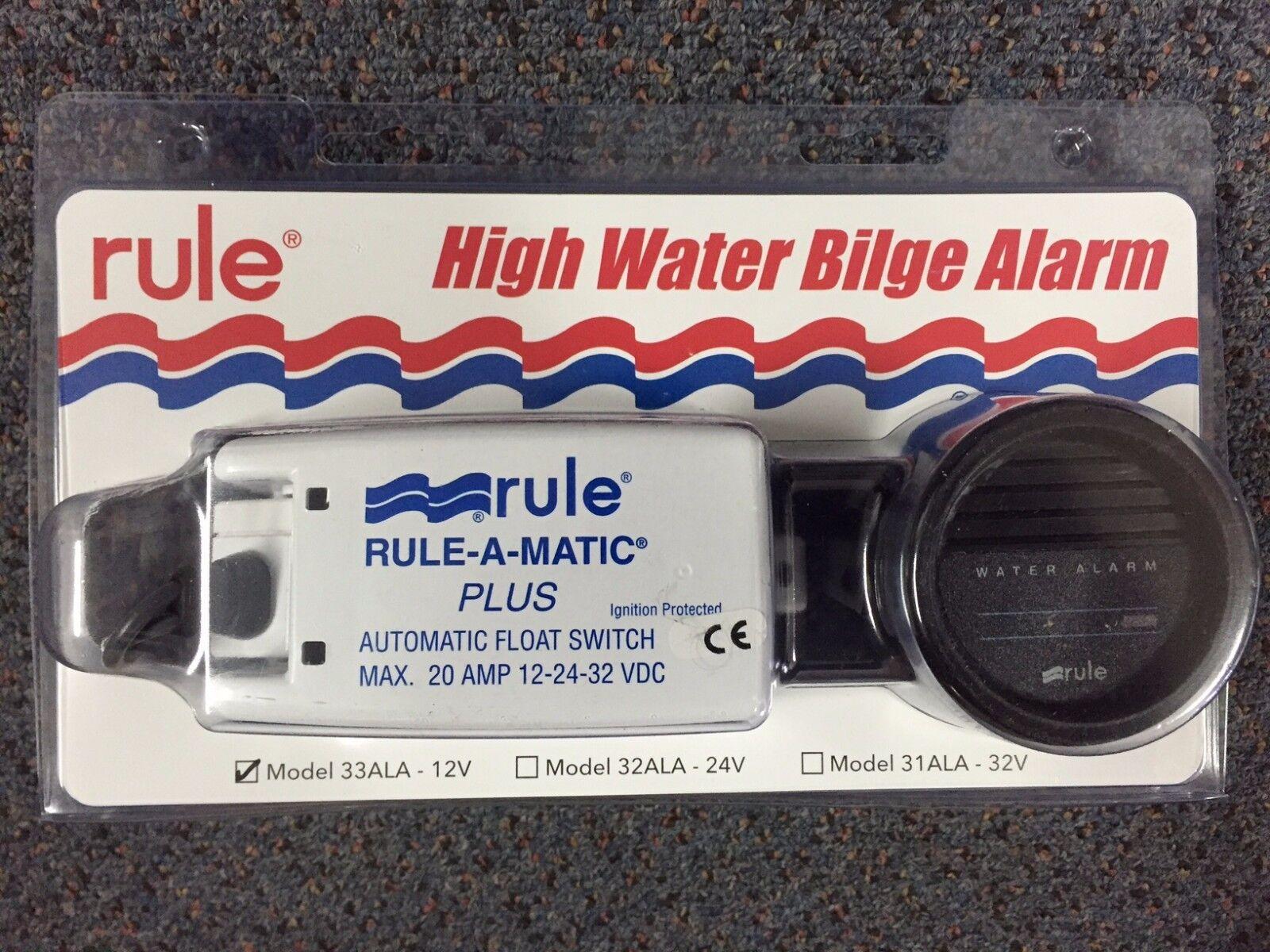Bilge Pump Alarm High Water Alarm with Float Switch and Gauge 12 Volt
