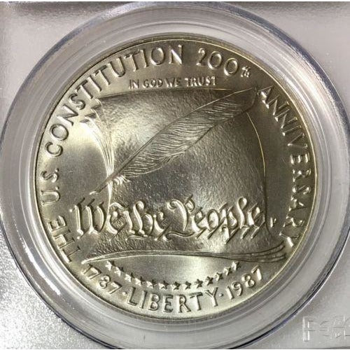 New PCGS Label 1987-S PCGS MS70 Constitution Commemorative Dollar