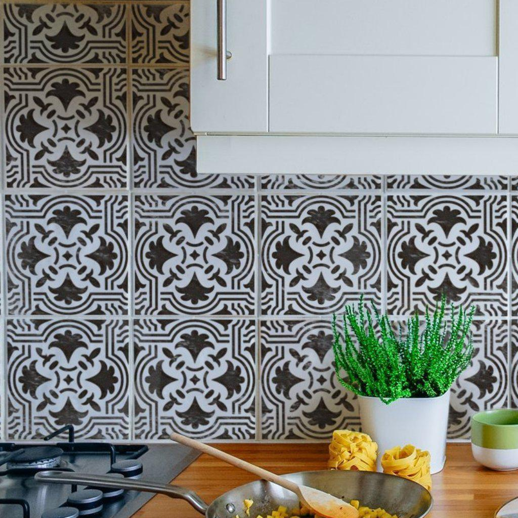 ROBYN Stencil For Floor And Walls Portuguese Tile Stencils