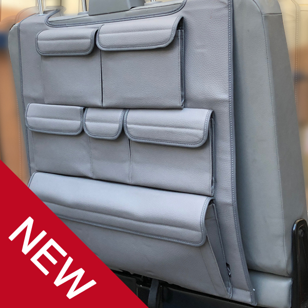 VW TRANSPORTER T4 T5 T6 Van Seat Covers BEIGE//BLK LUXURY PADDED LEATHER LOOK 2+1