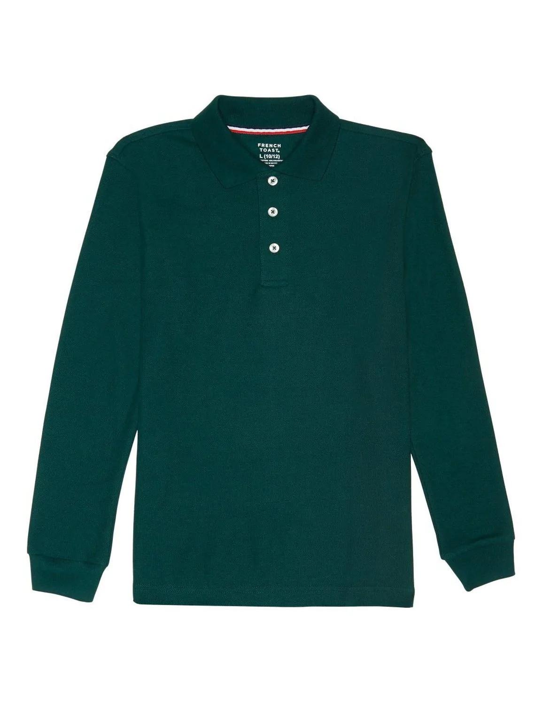 French Toast Boys Long-Sleeve Pique Polo Shirt