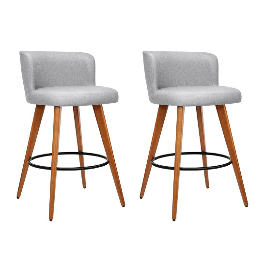 Fine Grey Bar Fabric Stools Stool 2X 2X Light Modern Wooden Stool Onthecornerstone Fun Painted Chair Ideas Images Onthecornerstoneorg